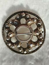 NORWEGIAN LARGE ANTIQUE SILVER 830S BROOCH