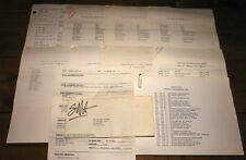 JUDAS PRIEST 10 OF DAVE HOLLAND'S PERSONAL TOUR ITINERARIES ONE WITH ENVELOPE