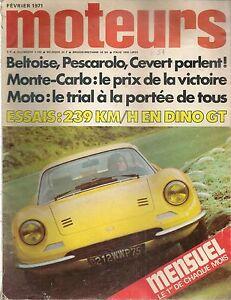 MOTEURS 83 1971 ESSAI DINO 246 GT PEUGEOT 504 COUPE CABRIOLET CHAPARRAL 2J