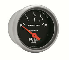 """AUTOMETER Sport-Comp ELECTRIC UNIVERSAL GM CHEVY FUEL LEVEL GAUGE 2-1/16"""" (52mm)"""