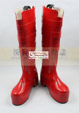 One Piece Perona red Boot Party Shoes Cosplay Boots Custom-made