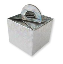10 CRYSTAL SILVER BALLOON WEIGHT BOX WEDDING FAVOURS GIFTS CAKE BIRTHDAY PARTY