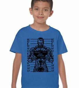 Ironman T-Shirt Boys Avengers Genius Billionaire Mens Funny Iron Superhero The