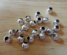 25- 8mm Large 3.5mm Hole Sterling Silver Spacer Separator Charm Bracelet Beads