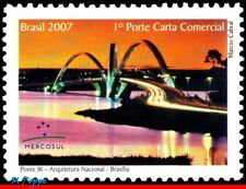 3016 BRAZIL 2007 BRIDGE JK, MERCOSUR ISSUE, ARCHITECTURE, MNH