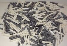 """Knex K'Nex Mixed White + Gray Rods Lot 1 5/16"""" Replacement Parts 380 Ct"""