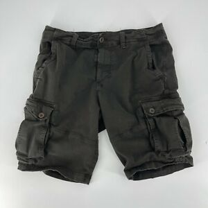American Eagle Cargo Shorts Men Size 35 Gray Chino Extreme Flex Classic Fit