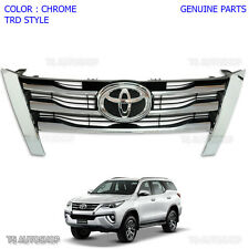 Front Chrome Blk Grill Grille FitToyota Fortuner Suv 2015 2016 2017 Genuine