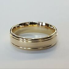 Men's Grooved Band 14K Yellow Gold