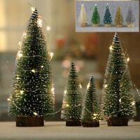 24x/12x/set Mini Christmas Tabletop Pine Tree Xmas Snow Trees Small Party Gifts