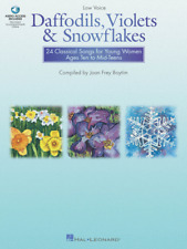 """Daffodils, Violets and Snowflakes"" LOW Voice MUSIC BOOK-WOMEN-VOCAL-NEW ON SALE"