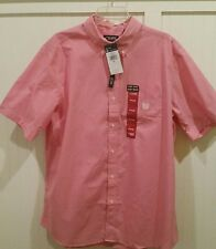 Chaps Shirt Button Down Collar Plaid Shirt Red/White Check size XL NWT MSRP $50