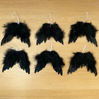 Set of 6 Feather Hanging Angel Wing Christmas Tree Wedding Decoration Ornament B