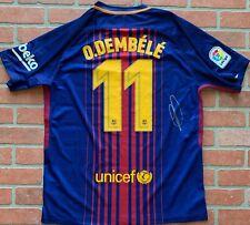 Ousmane Dembele autographed signed authentic jersey Barcelona Beckett COA