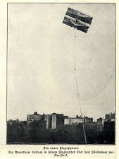 Der Amerikaner Ludlow mit seinem neuen Flugdrachen über NYC 1906