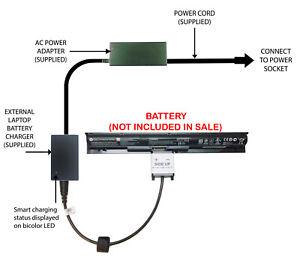 External Laptop Battery Charger for HP Pavilion 14/15/17-ABxxxx, 800049-001 KI04