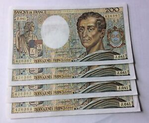 Suite 4 Billets 200 F  Montesquieu