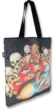 LIQUOR BRAND lady luck pin up canvas bag rockabilly pin up tattoo punk gothic