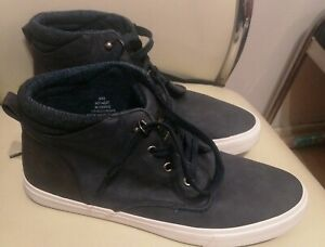 Men's Matalan Navy Blue High Top Trainers Size 9