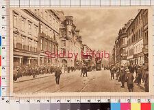 Trongate, Glasgow vintage postcard Glasgow postmark. Trams in street