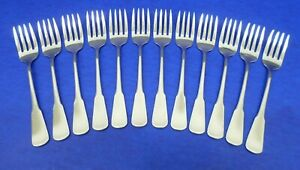 12 - Oneida COLONIAL BOSTON Satin Handle USA Stainless Flatware SALAD FORKS