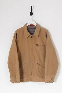 Vintage LEE COOPER Blanket Lined Denim Jacket Beige (XL)