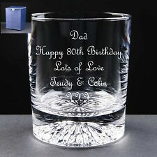 Personalised Whisky Glass Birthday Gift 80th 81st 82nd 83rd 84th 85th 86th 87th