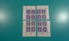 Canada Stamp #340 Queen Elizabeth II 1954 4c 4 corner  #6