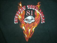 VTG 3XL SUPPORT YOUR LOCAL 81 HELLS ANGEL MOTORCYCLE CLUB NOMAD SKULL SHIRT
