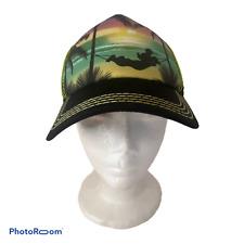 � Walt Disney Mickey Mouse Tropical Sunset Hammock Vacation Beach Snapback Hat