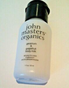 john masters organics geranium & grapefruit body milk 30 ml
