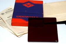 Agfa Wolfen Lichtfilter 82 infrarot 75x75mm aus Glas 3,5mm dick (neuwertig)