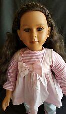 RARE My Twinn Doll- Brown Eyes - Black long Hair