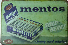 """Mentos Chewy Mints Candy Sweets Confectionery Retro Metal Tin Sign 12x8"""" NEW"""