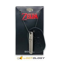 Legends Of Zelda Dog Tag Loot Gaming Crate May 2016 Dungeon Theme Sword Bioworld