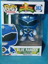 Mighty Morphin Metallic Blue Power Ranger Limited Edition Funko Pop Vinyl Rare