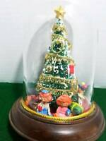 Magical Christmas Tree inside Glass Dome with a Wood Base