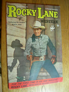 Rocky Lane Western #1 VG/F with Black Jack Movie Hero !