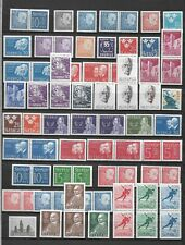 Sweden 2 pages with many pairs mnh