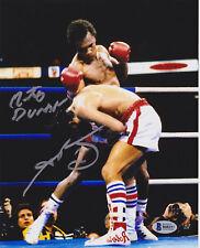 Sugar Ray Leonard Roberto Duran Dual Signed 8x10 Photo - Sugar Punch Beckett BAS