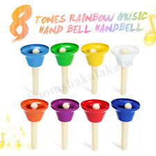 8 Pcs Children's Tones Rainbow Educational Kids Musical Toy Music Hand Bells