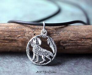 Navajo Wolf Tibetan Silver Pendant & Necklace Native American Inspired Jewellery