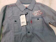 New! Levis Shirt CAMICIA BAMBINO righe blu 6 ANNI