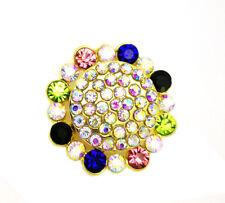 3D Crystal Chunk Charm Snap Button Fit For Noosa Necklace/Bracelet  NSKZ34