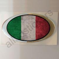 Adesivi Italia Sporco Ovale Maculato Adesivo Bandiera Resinati 3D Resinato