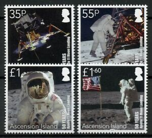 Ascension Island Space Stamps 2019 MNH Moon Landing Apollo 11 50th Anniv 4v Set