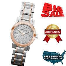 100% Brand New Burberry Two-tone Stainless Steel Ladies Diamond Watch BU9214