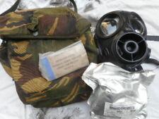 AVON 1988 BRiTiSH army RESPIRATOR GAS MASC S10 S 10 SIZE 3 M & PLCE POUCH & KIT