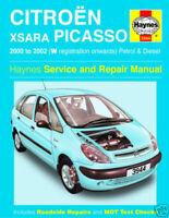 Haynes Manual 3944 Citroen Xsara Picasso 00-02 Petrol & Diesel