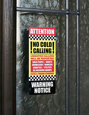SKU015 - No Canvassers - No Cold Callers - Front Door Letter Box Sign / Sticker
